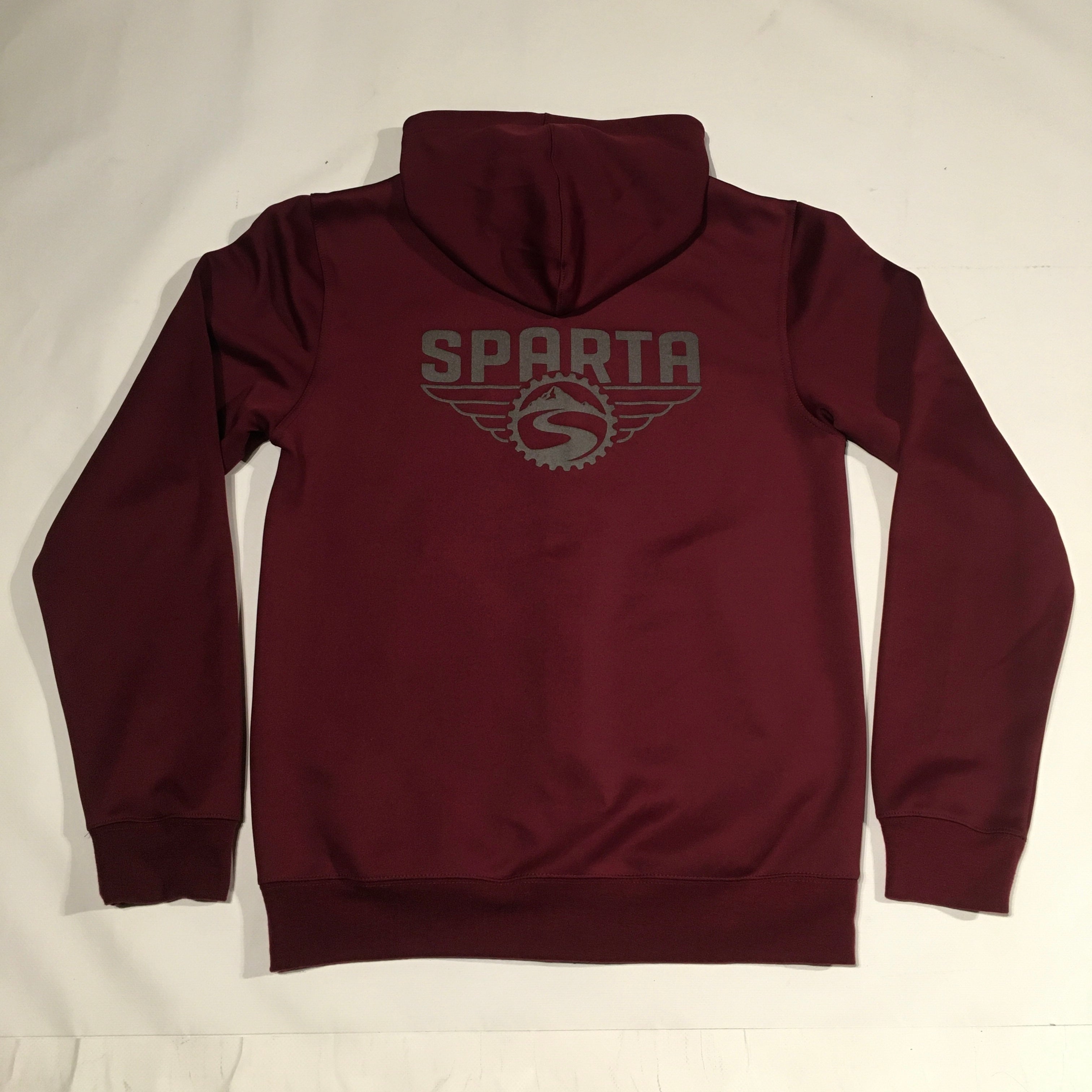 Sparta Zip Up Hoodie with Reflective Logos