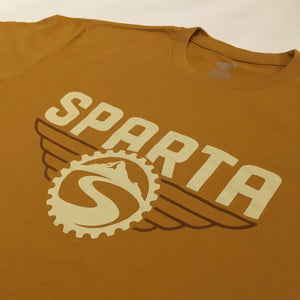 Sparta Antique Gold Logo Tee