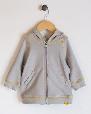 Hoodie in Grey/Yellow