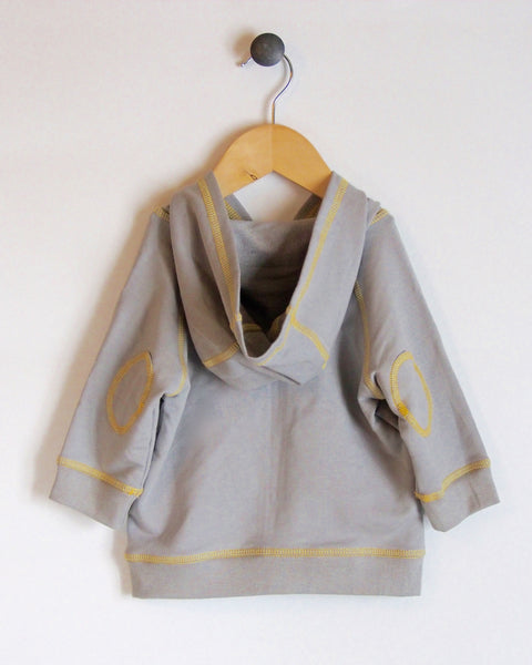 Hoodie in Grey/Yellow with Unicorn