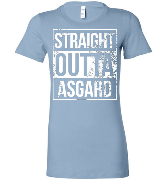 Straight Outta Asgard - Ladies Fitted Tee