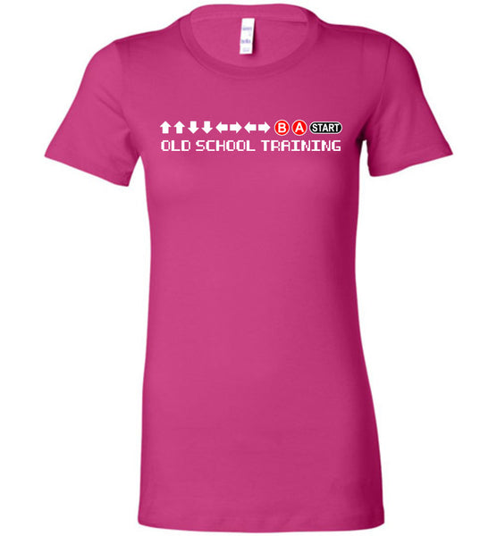 Old School Training - Ladies FItted Tee