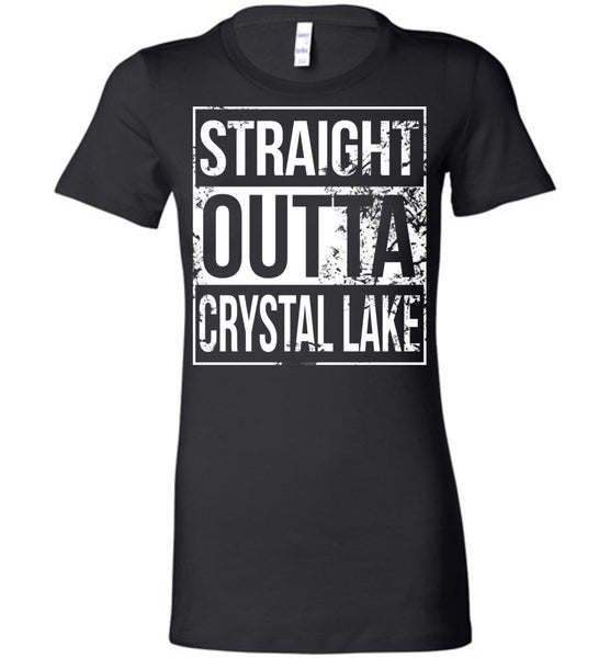 Straight Outta Crystal Lake - Ladies Fitted Tee