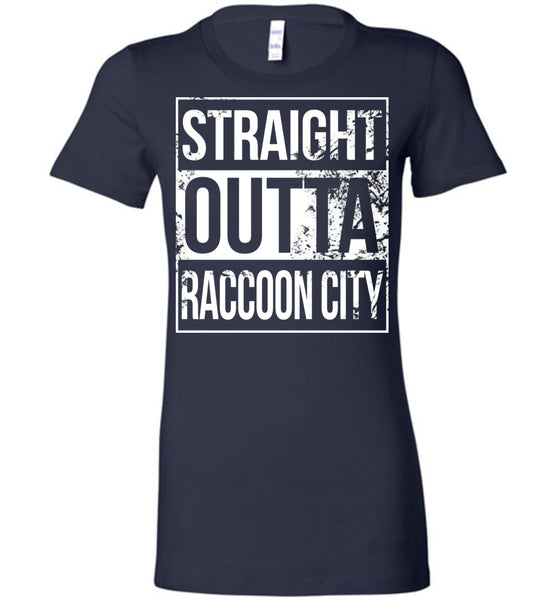 Straight Outta Raccoon City - Ladies Fitted Tee