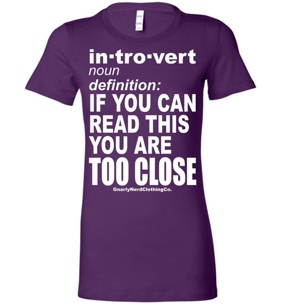 The Introvert - Ladies Fitted Tee