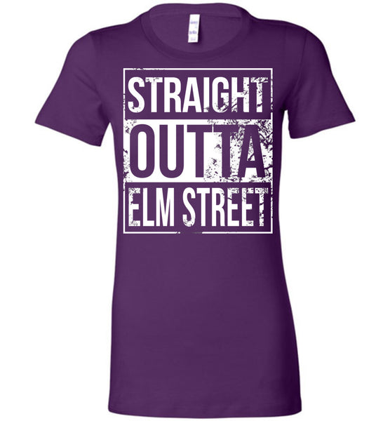 Straight Outta Elm Street - Ladies Fitted Tee