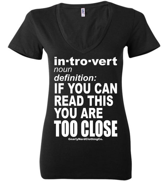 The Introvert - Low-Cut Ladies Tee