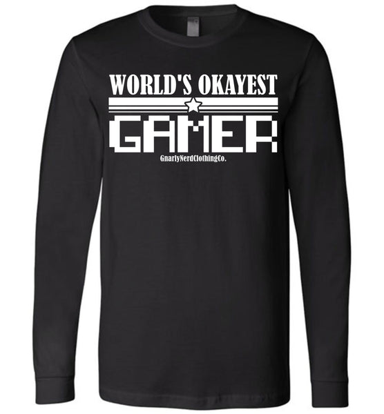 World's Okayest Gamer v.2 - Long Sleeve Tee