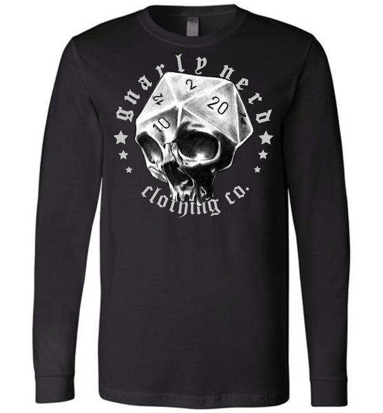 D20 Skull - Long Sleeve Tee