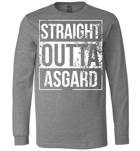 Straight Outta Asgard - Long Sleeve Tee