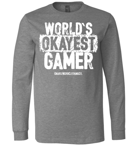 World's Okayest Gamer - Long Sleeve Tee