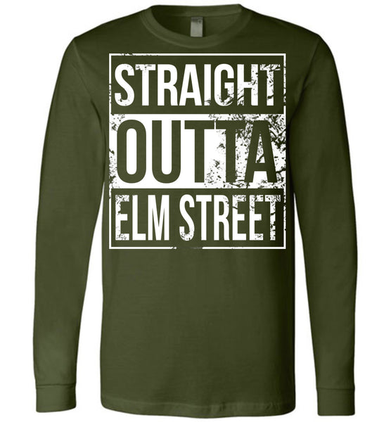 Straight Outta Elm Street - Long Sleeve Tee