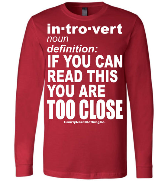The Introvert - Long Sleeve Tee