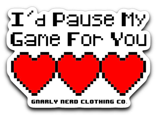 Pause My Game - Vinyl Decal