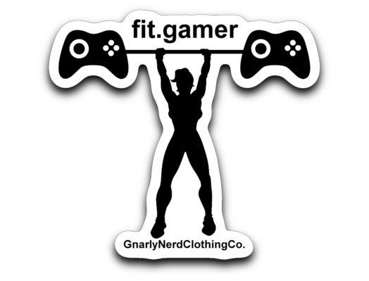Fit Gamer (Woman) - Vinyl Decal