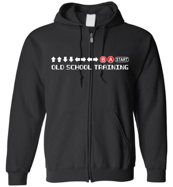 Old School Training -Zip-Up Hoodie