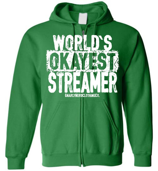 World's Okayest Streamer - Zip-Up Hoodie