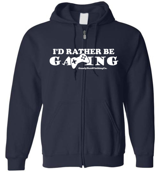 I'd Rather Be Gaming - Zip-Up Hoodie