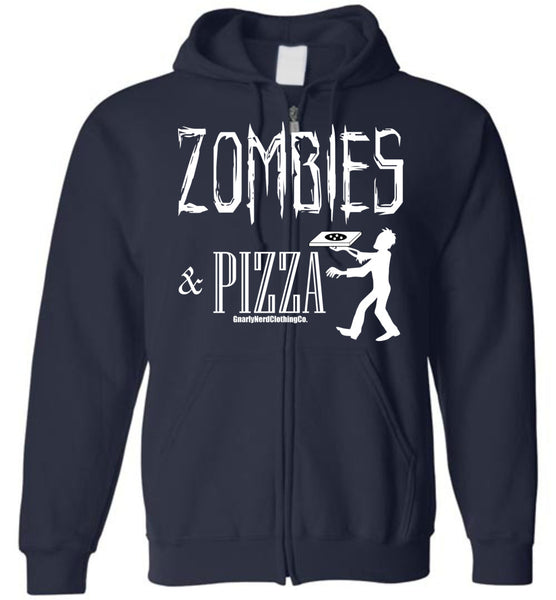 Zombies & Pizza - Zip-Up Hoodie