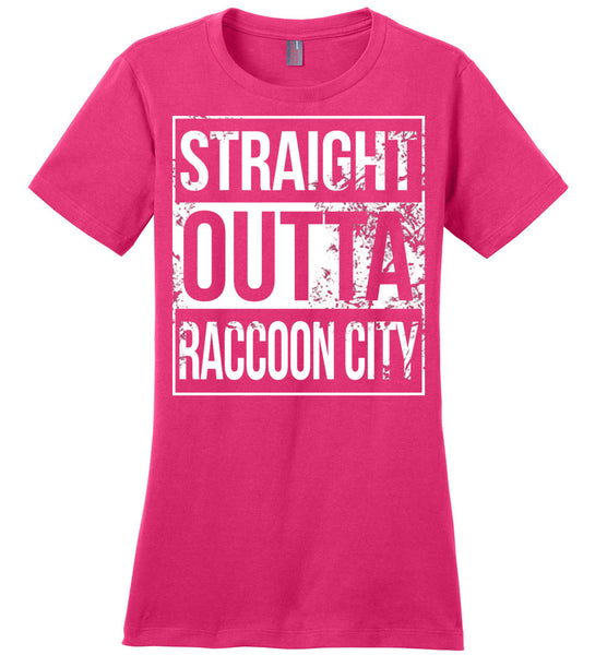 Straight Outta Raccoon City - Ladies Casual Tee