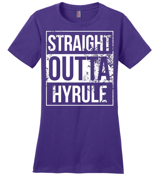Straight Outta Hyrule - Ladies Casual Tee