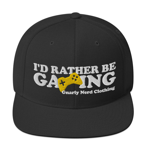 I'd Rather Be Gaming - SnapBack Hat (20 color options)