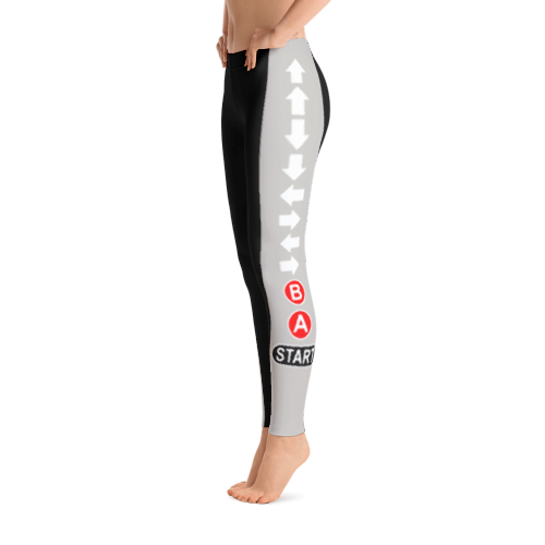 Konami Code (black/gray) Leggings
