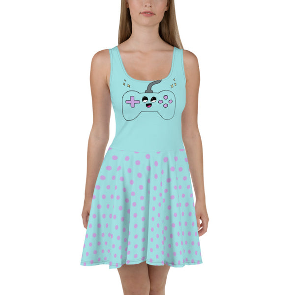 Cute Controller - Skater Dress (Blue)
