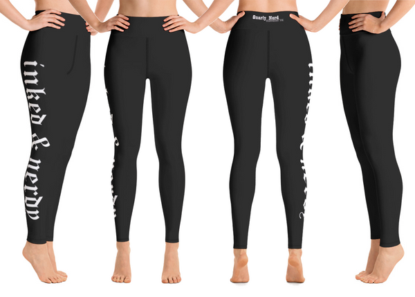 Inked & Nerdy Yoga Pants (All Black)
