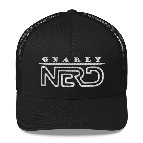 Gnarly Nerd Logo - Retro Trucker Hat (10 Color Options)