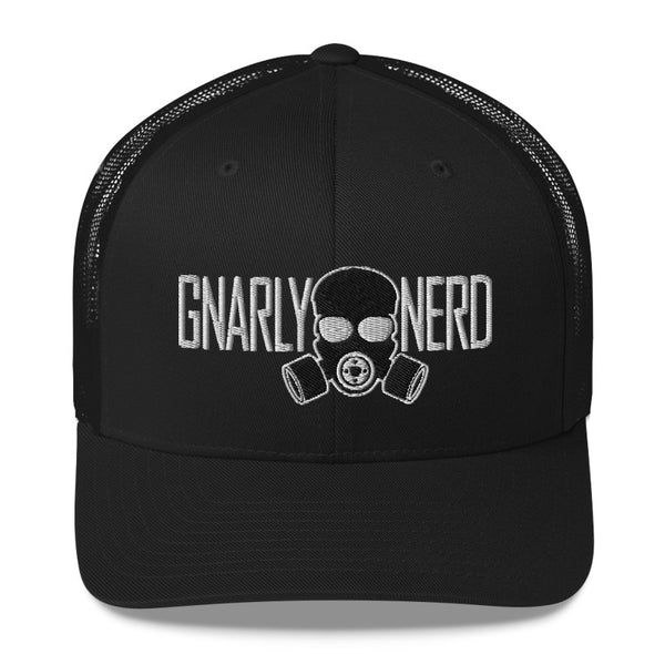 Branded Gas Mask - Retro Trucker Hat (10 Color Options)