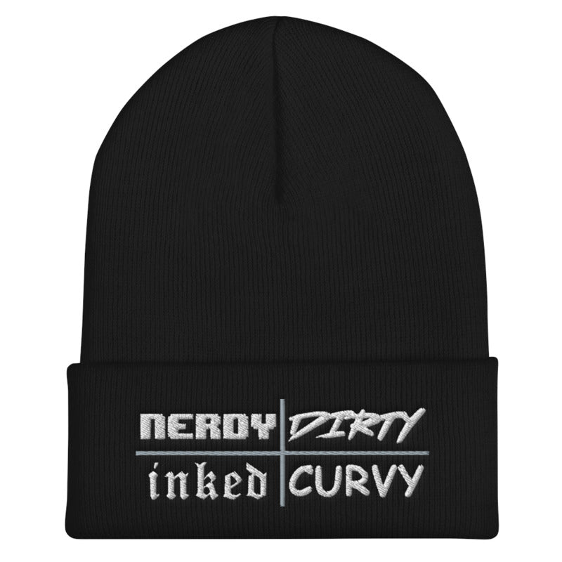 Nerdy Dirty Inked Curvy - Beanie (6 color options)