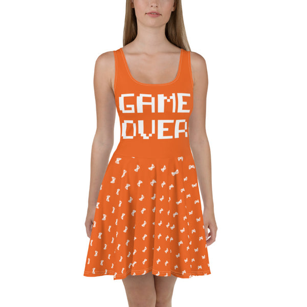 Game Over - Skater Dress (8 Color Options)