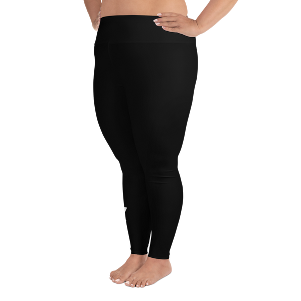 Inked & Nerdy Plus Size Leggings (All Black)