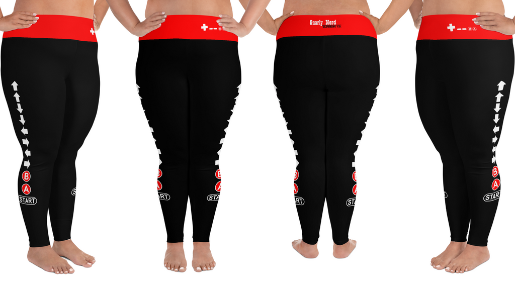 Konami Code Plus Size Leggings