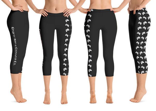 Controller Pattern Capri Leggings (8 Color Options)