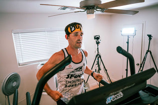 Zach Bitter set new world records for the 100-Miles and 12-Hours Treadmill run in PURPOSE running gear