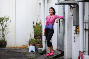 Cancer survivor Philippa Glover once vowed she would never do a triathlon again
