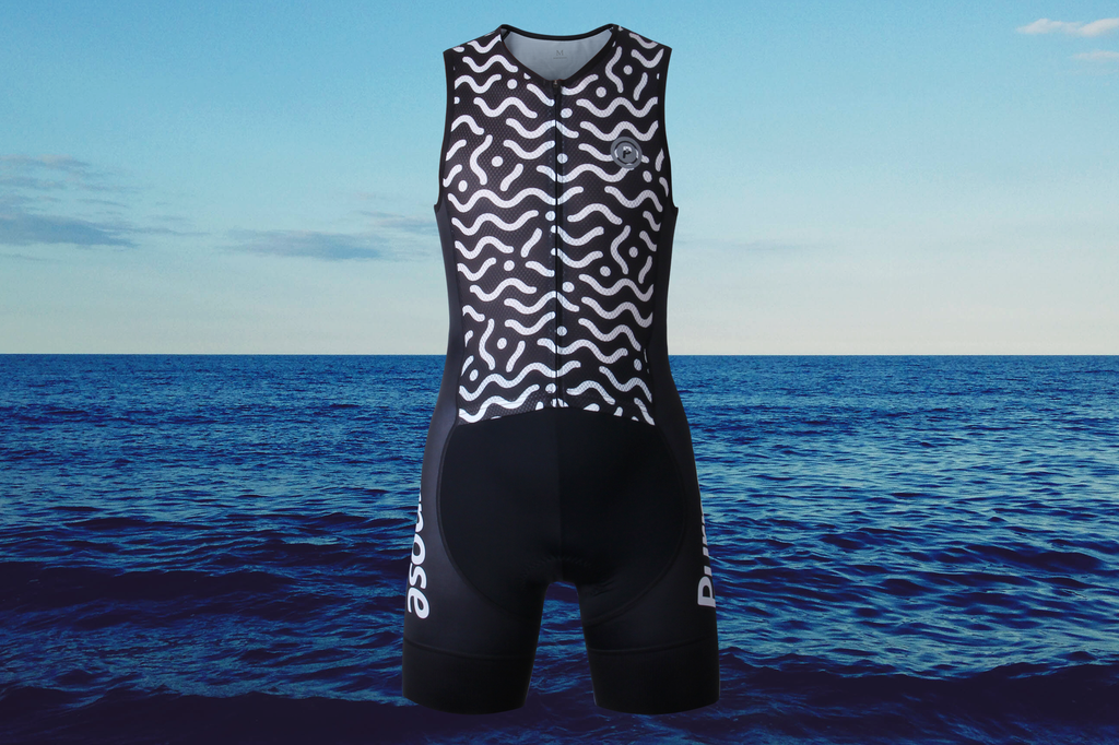 Purpose Flow Pro Performance Mesh Sleeveless Tri Suit (Waves)