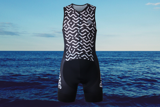 PRO Performance Mesh Sleeveless Tri Suit (Waves)