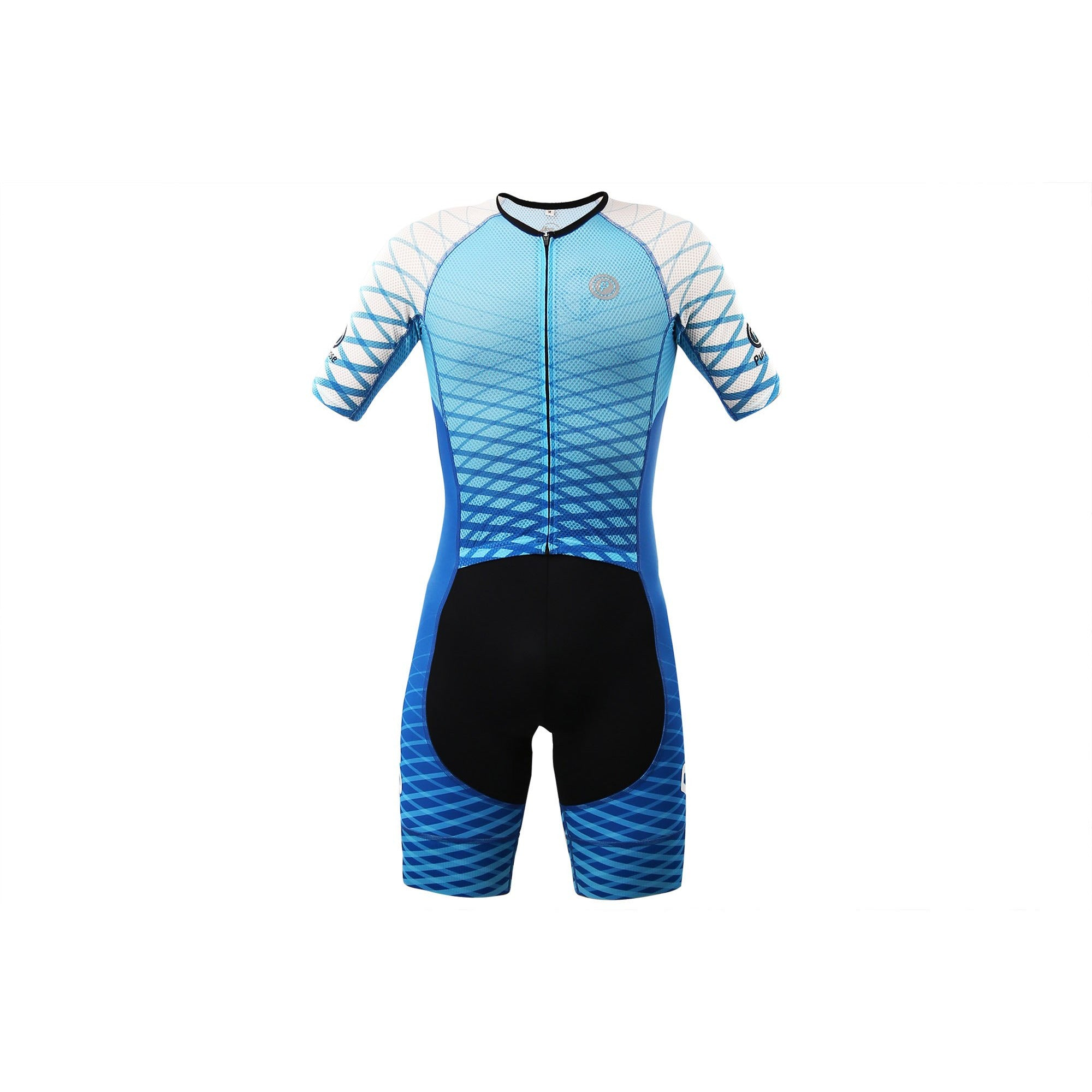 Purpose Flow Pro/Performance Mesh Tri Suit (Aero Blue, Sleeve)