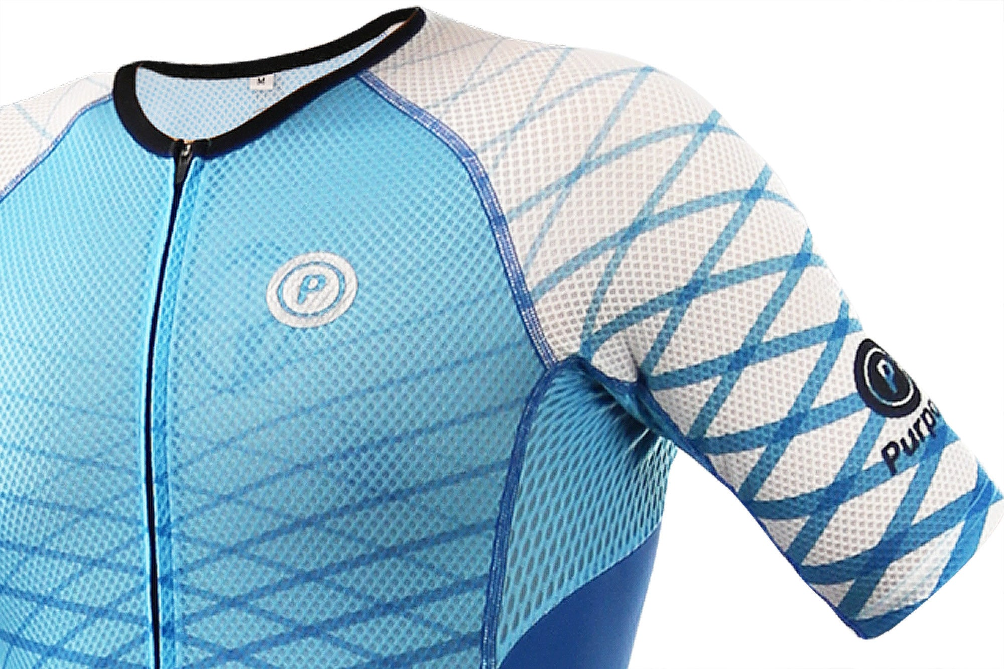 Purpose Flow Pro Performance Mesh Tri Suit (Aero Blue, Sleeve)