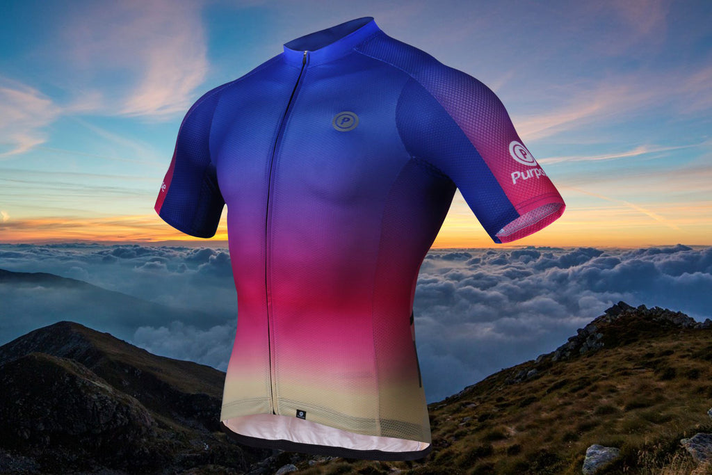 Purpose Ambition Team Elite Lightweight Cycling Jersey (Rainbow)