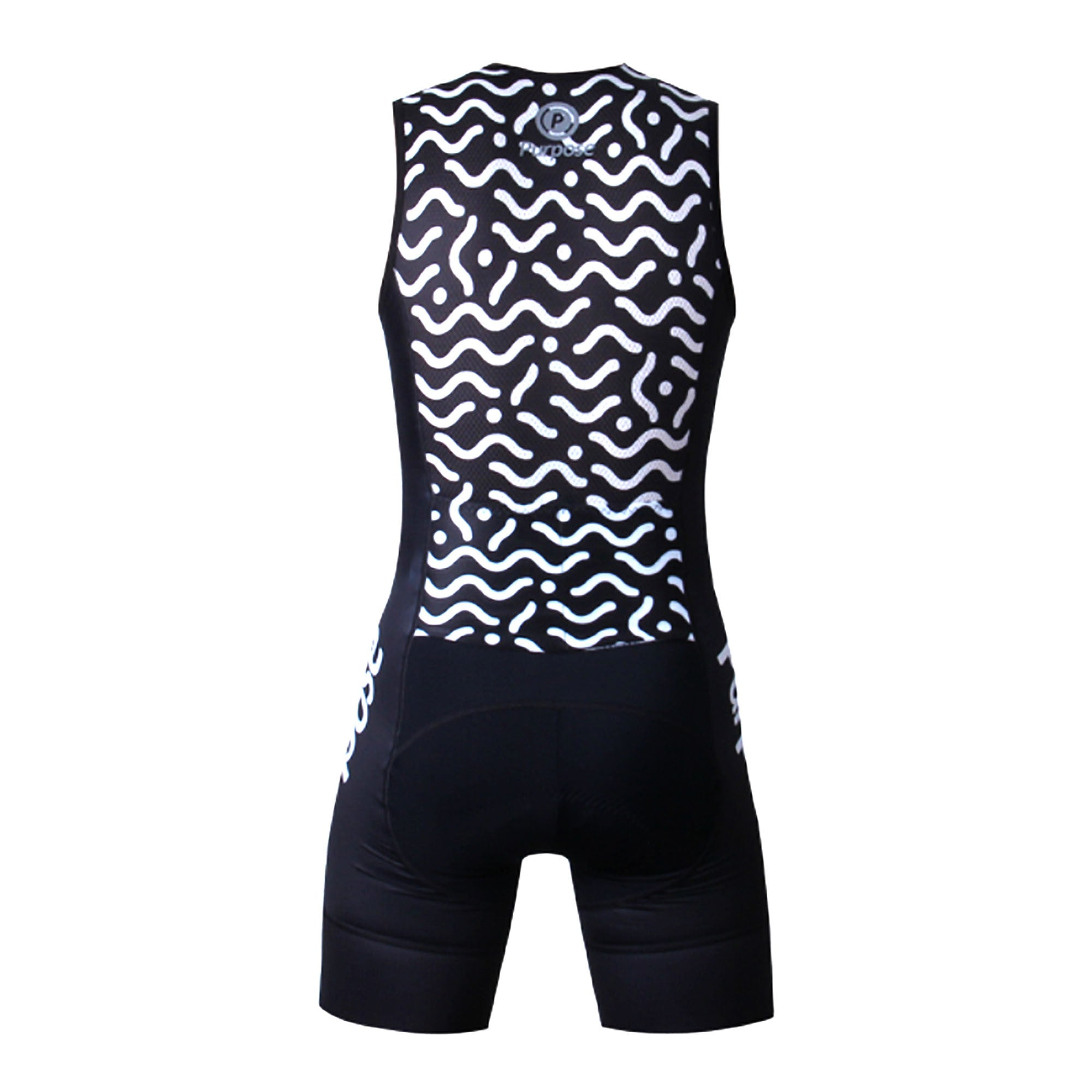 Purpose Flow Pro Performance Mesh Tri Suit (Waves Black and White ... 2725de829