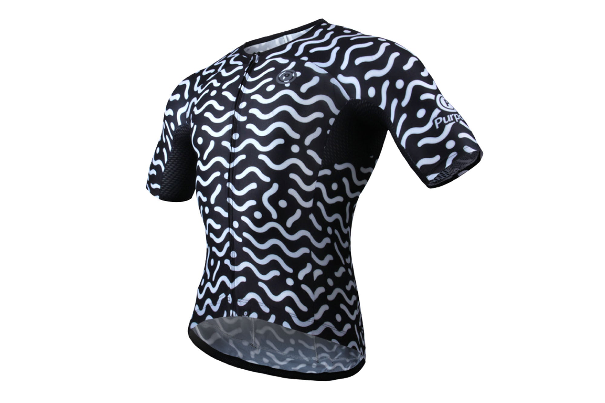 Purpose Flow Pro Ultra-Light Skinsuit Jersey (Black and White Waves)