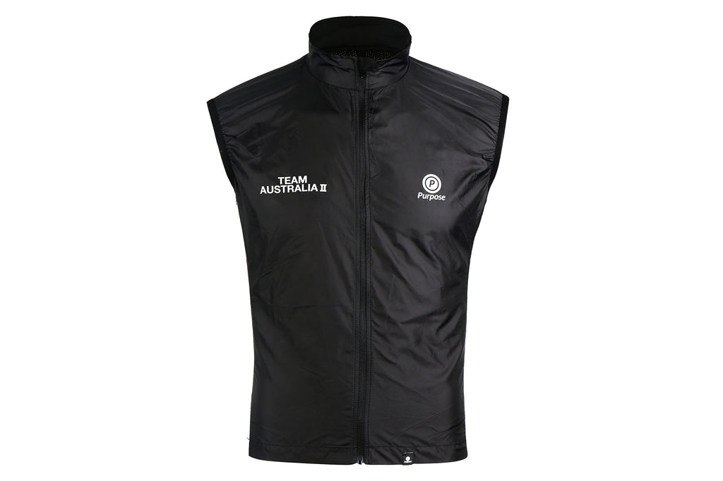 Purpose Team Australia II Cycling Gilet (Limited Run Black)