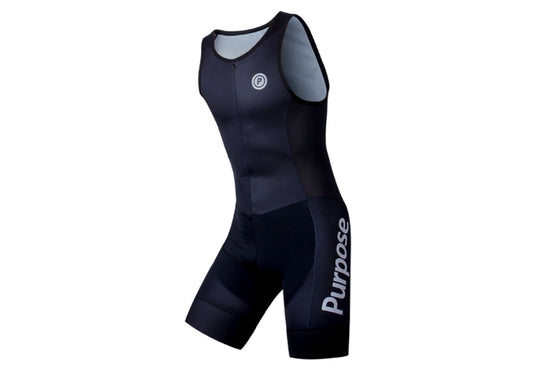ELITE Team Lightweight Sleeveless Tri Suit (Carbon Black)