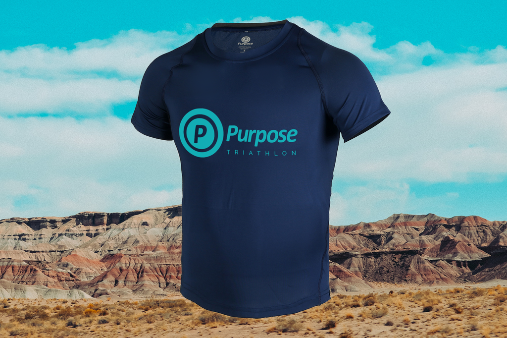 Purpose Triathlon Short Sleeve T-Shirt (Blue)