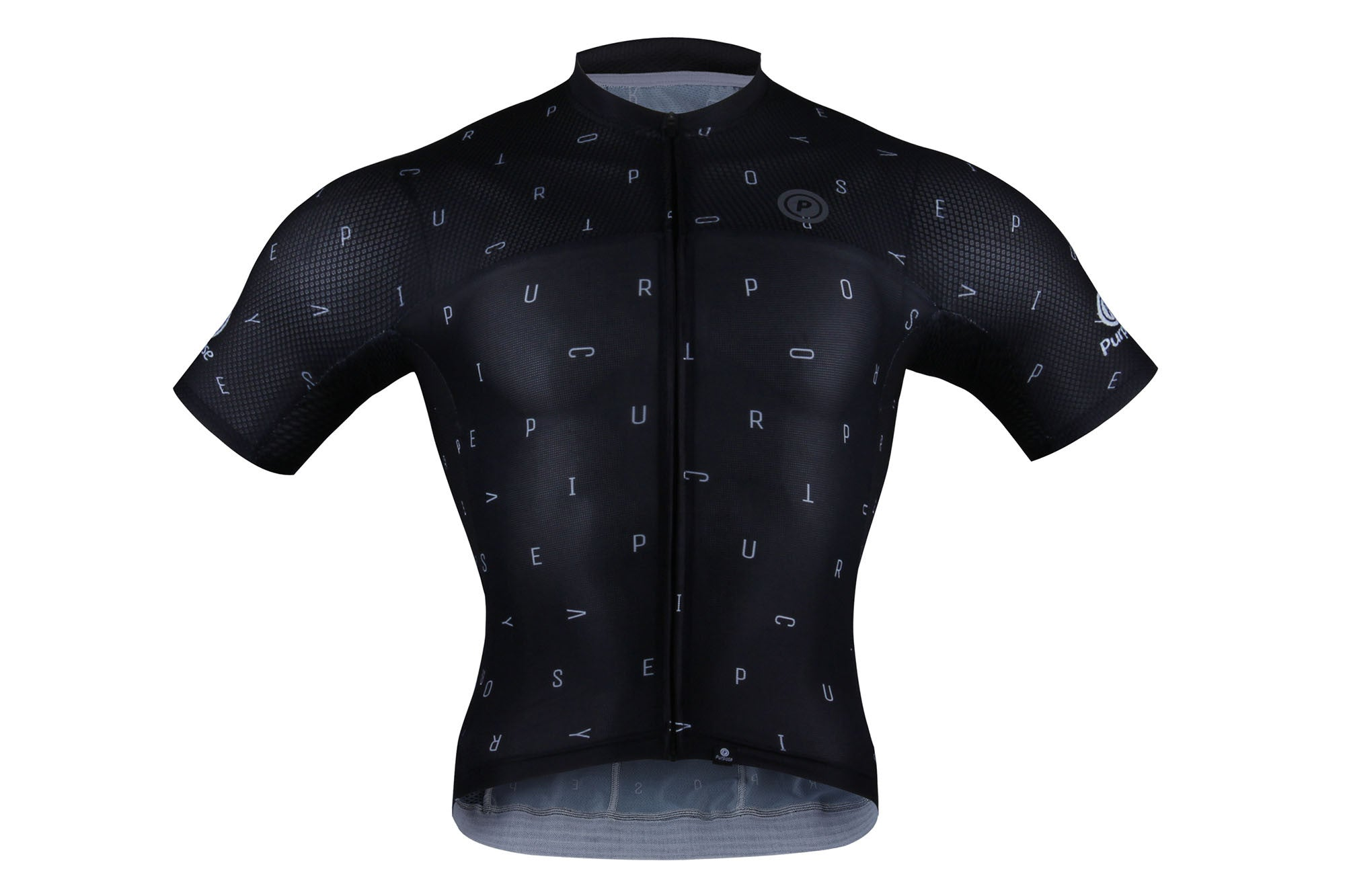 Purpose Victory Elite Racing Tri-Mesh Jersey (Black and White Letters)
