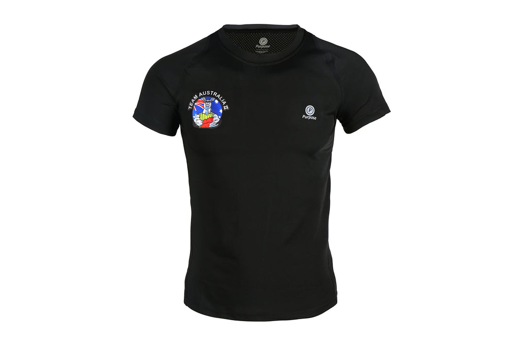 Purpose Team Australia II Active Short Sleeve T-Shirt (Limited Edition Carbon Black)